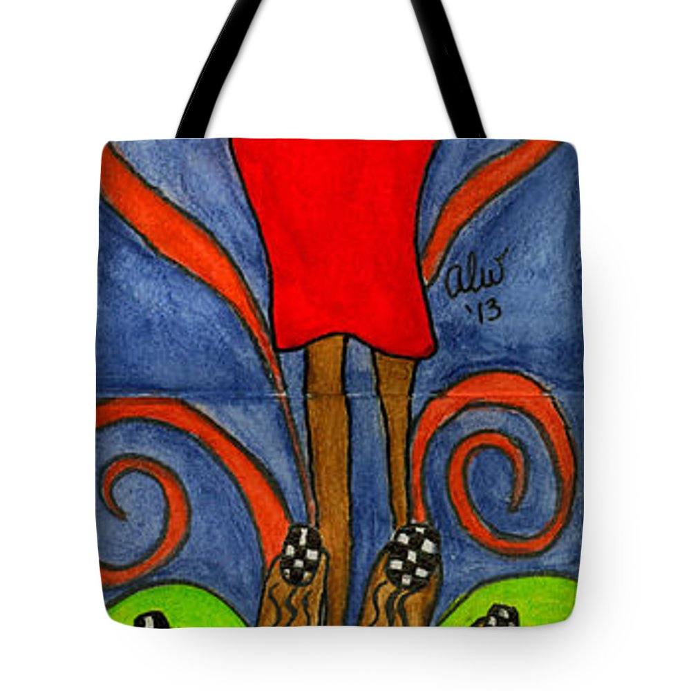 Acrylic Tote Bag featuring the painting Believing I Can by Angela L Walker