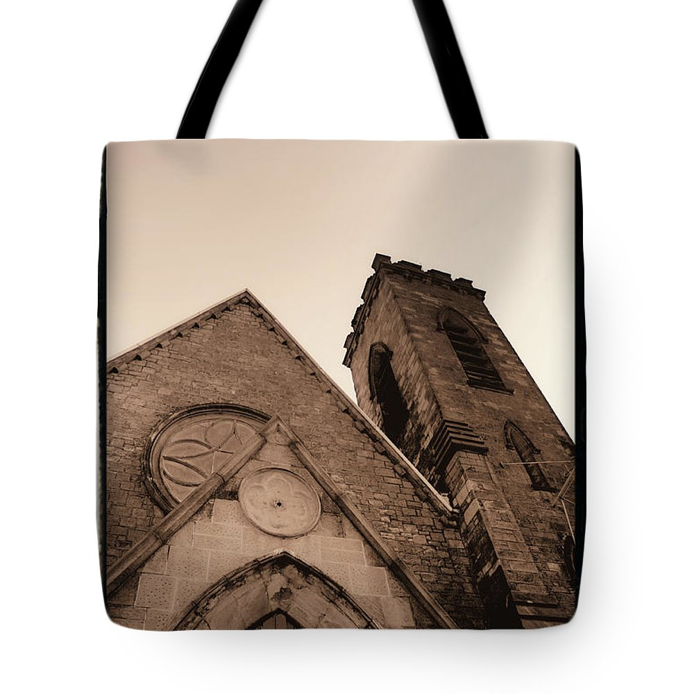 New York Tote Bag featuring the photograph Bell Tower by Donna Blackhall