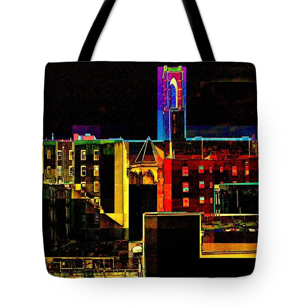Tote Bag featuring the photograph Bell Tower by Miriam Danar