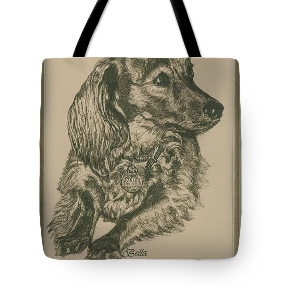 Drawing Tote Bag featuring the drawing Bella by Carol Wisniewski