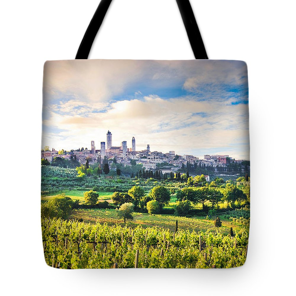 Architecture Tote Bag featuring the photograph Bella Toscana by JR Photography