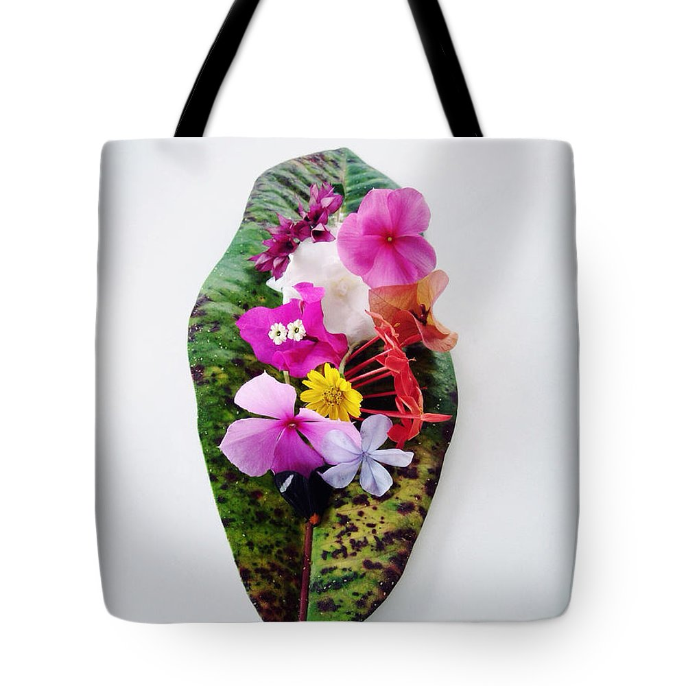 Colorful Tote Bag featuring the photograph Belleza Floral by Natasha Marco