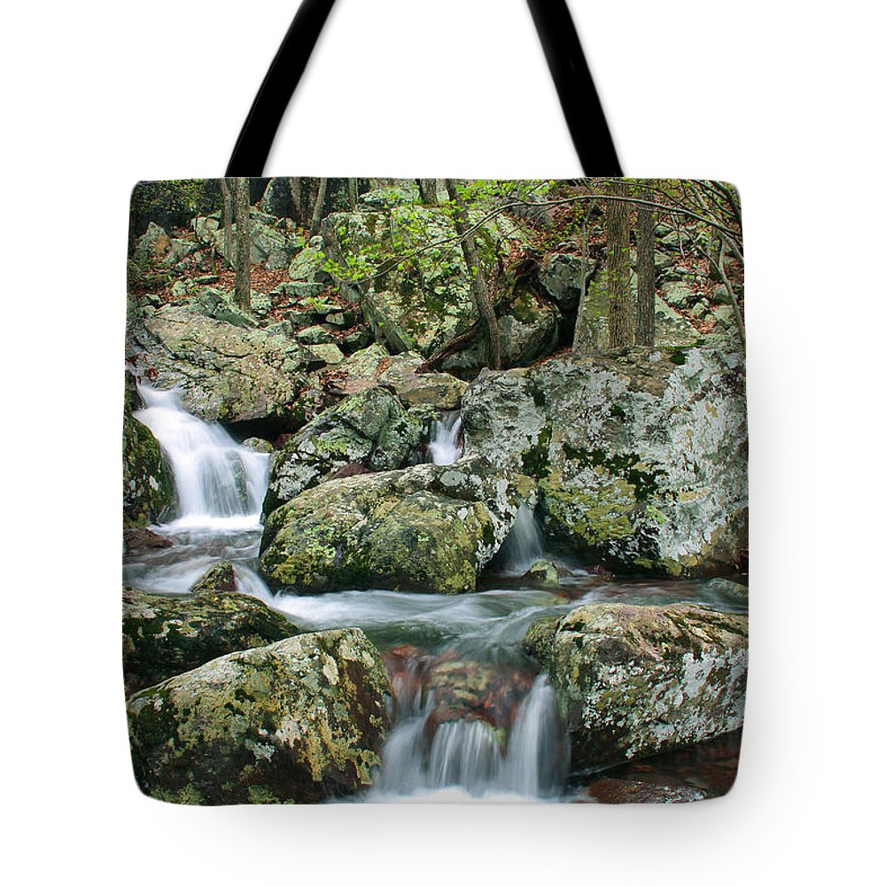 Mina Sauk Falls Tote Bag featuring the photograph Below Mina Sauk Falls 1 by Greg Matchick