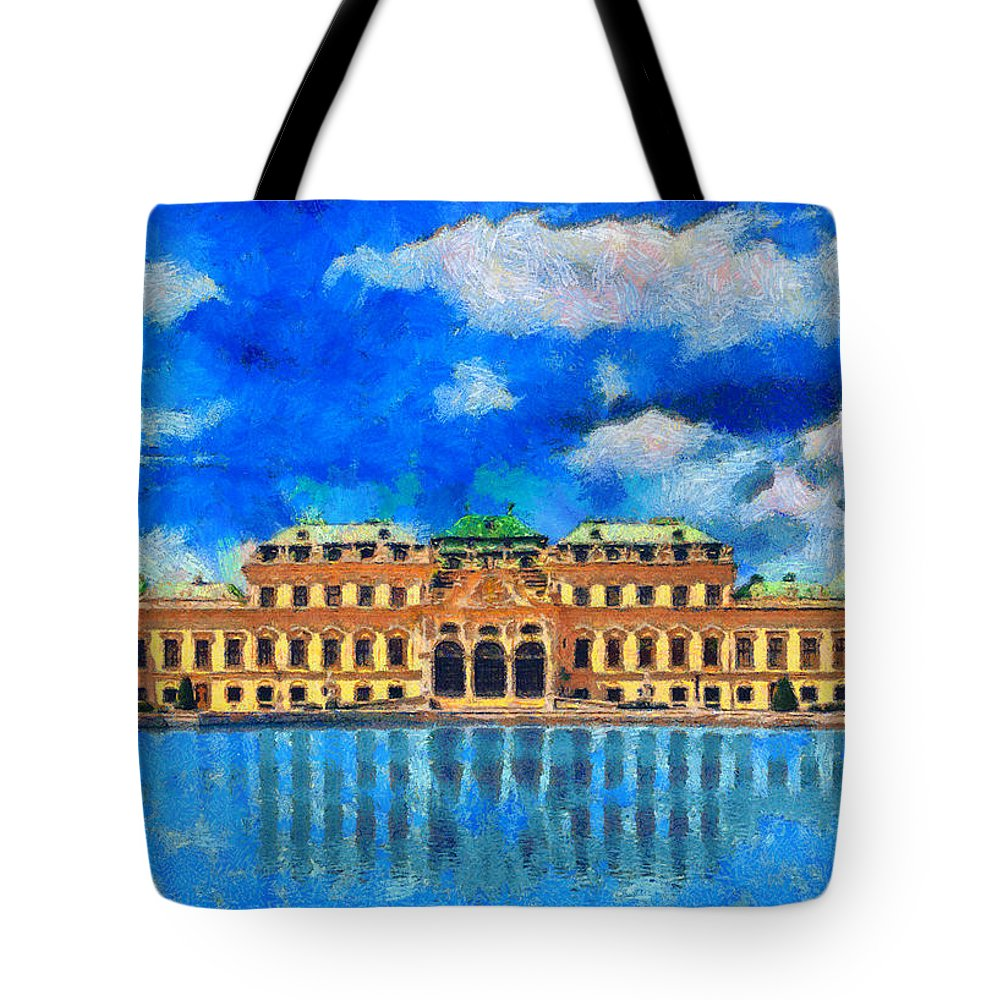 Rossidis Tote Bag featuring the painting Belvedere Palace by George Rossidis