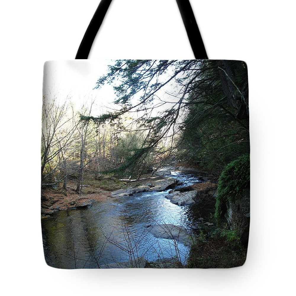 River Tote Bag featuring the photograph Belvidere Junction Stream Vermont by Barbara McDevitt