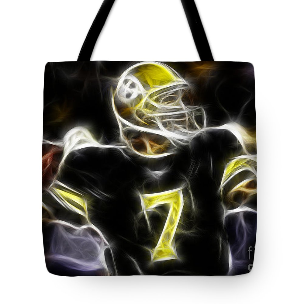 Ben Roethlisberger Tote Bag featuring the photograph Ben Roethlisberger - Pittsburg Steelers by Paul Ward