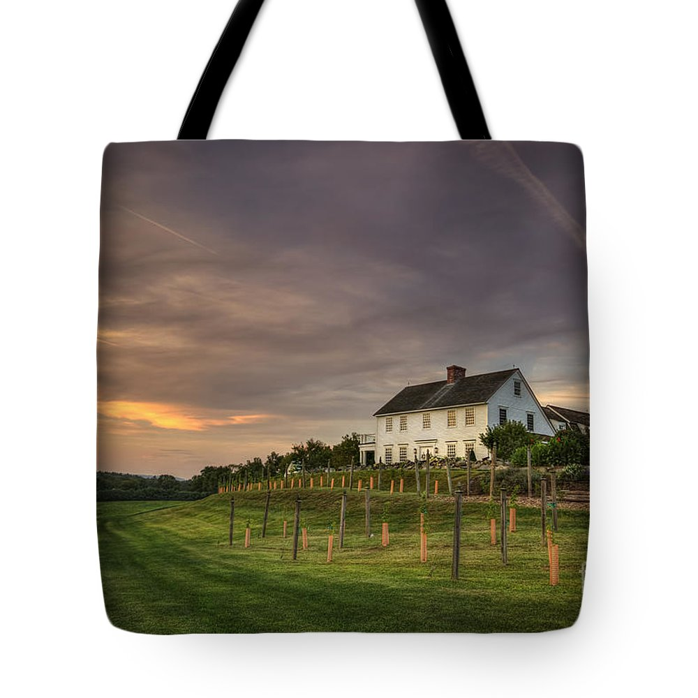 Massachusetts Tote Bag featuring the photograph Beneath An Evening Sky by Evelina Kremsdorf