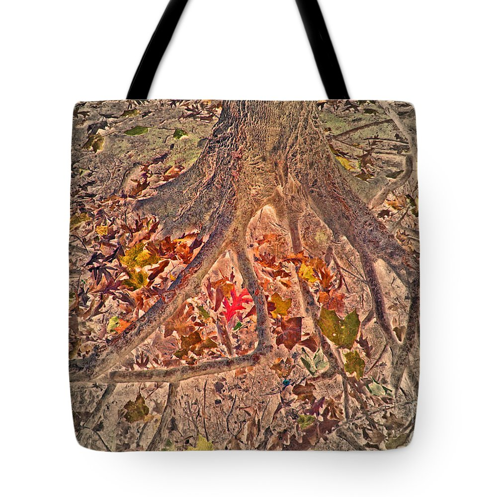 Abstract Tote Bag featuring the photograph Beneath It All by Minding My Visions by Adri and Ray
