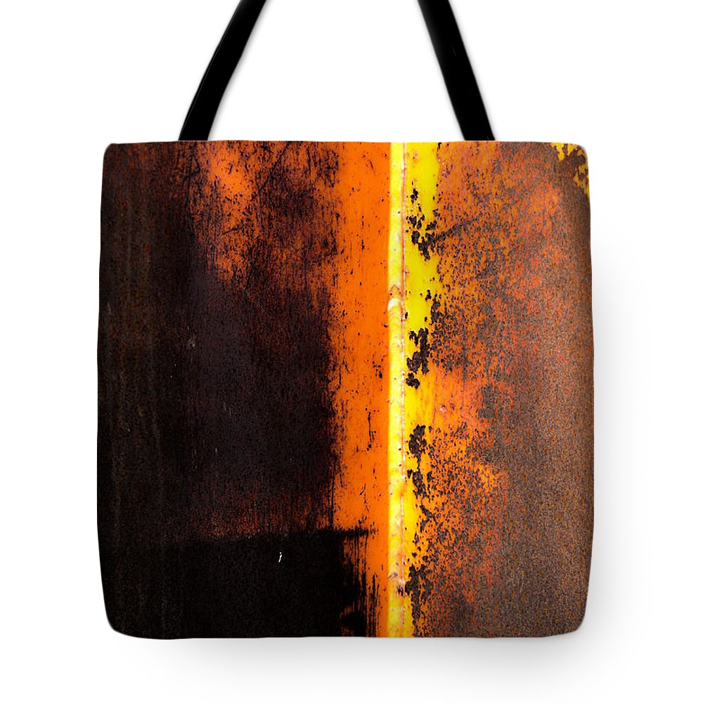 Rust Tote Bag featuring the photograph Beneath The Shield by The Artist Project