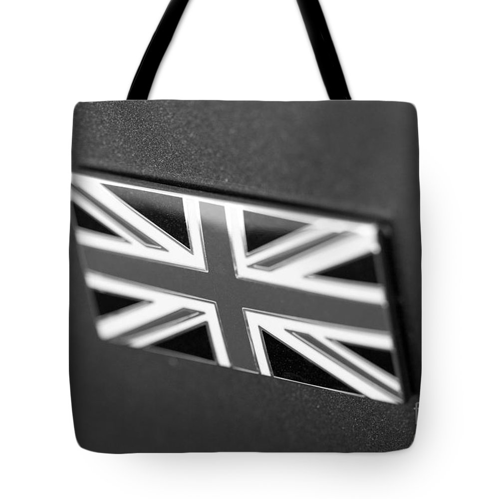 Bentley Emblem Photographs Tote Bag featuring the photograph Bentley Badge In Black by Brooke Roby