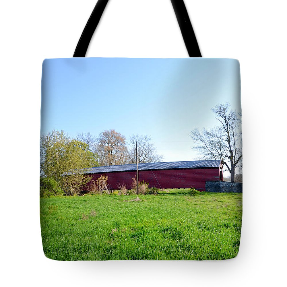 Griesemer's Tote Bag featuring the photograph Berks County - Griesemer's Covered Bridge by Bill Cannon