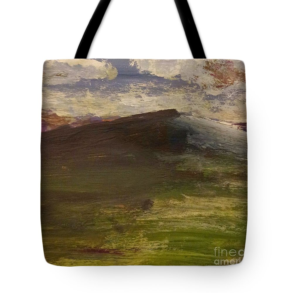 Landscape Tote Bag featuring the painting Berkshires On My Mind by Sara Markwith-Padgett