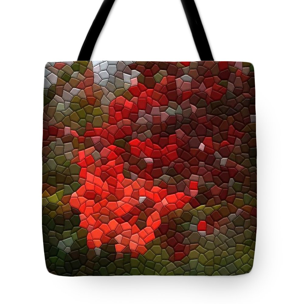 Mosaic Tote Bag featuring the photograph Berry Accidental by Kathryn Meyer