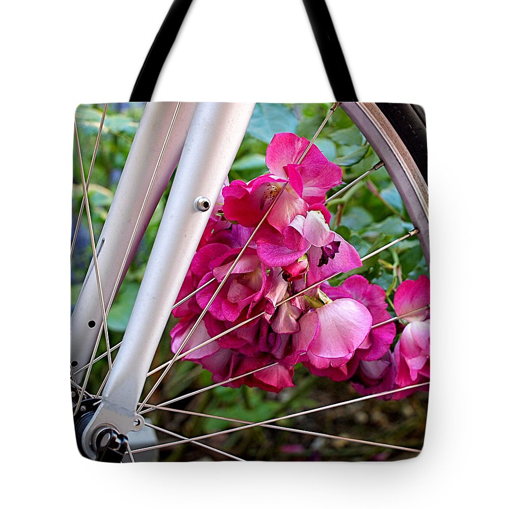 Bicycle Tote Bag featuring the photograph Bespoke Flower Arrangement by Rona Black