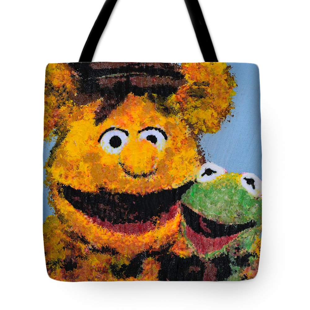 The Muppets Tote Bag featuring the painting Best Friends by Alys Caviness-Gober