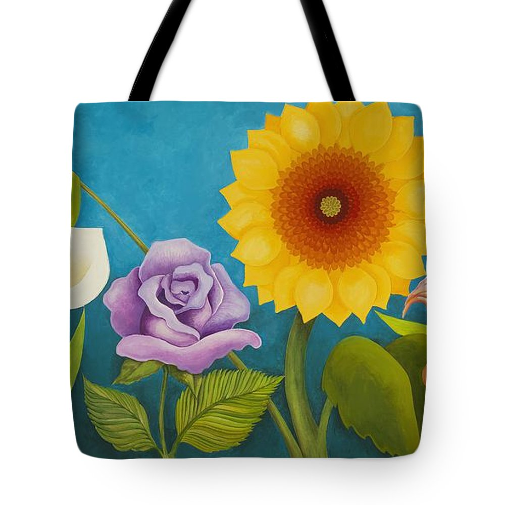 Art Tote Bag featuring the painting Best Friends by Carol Sabo