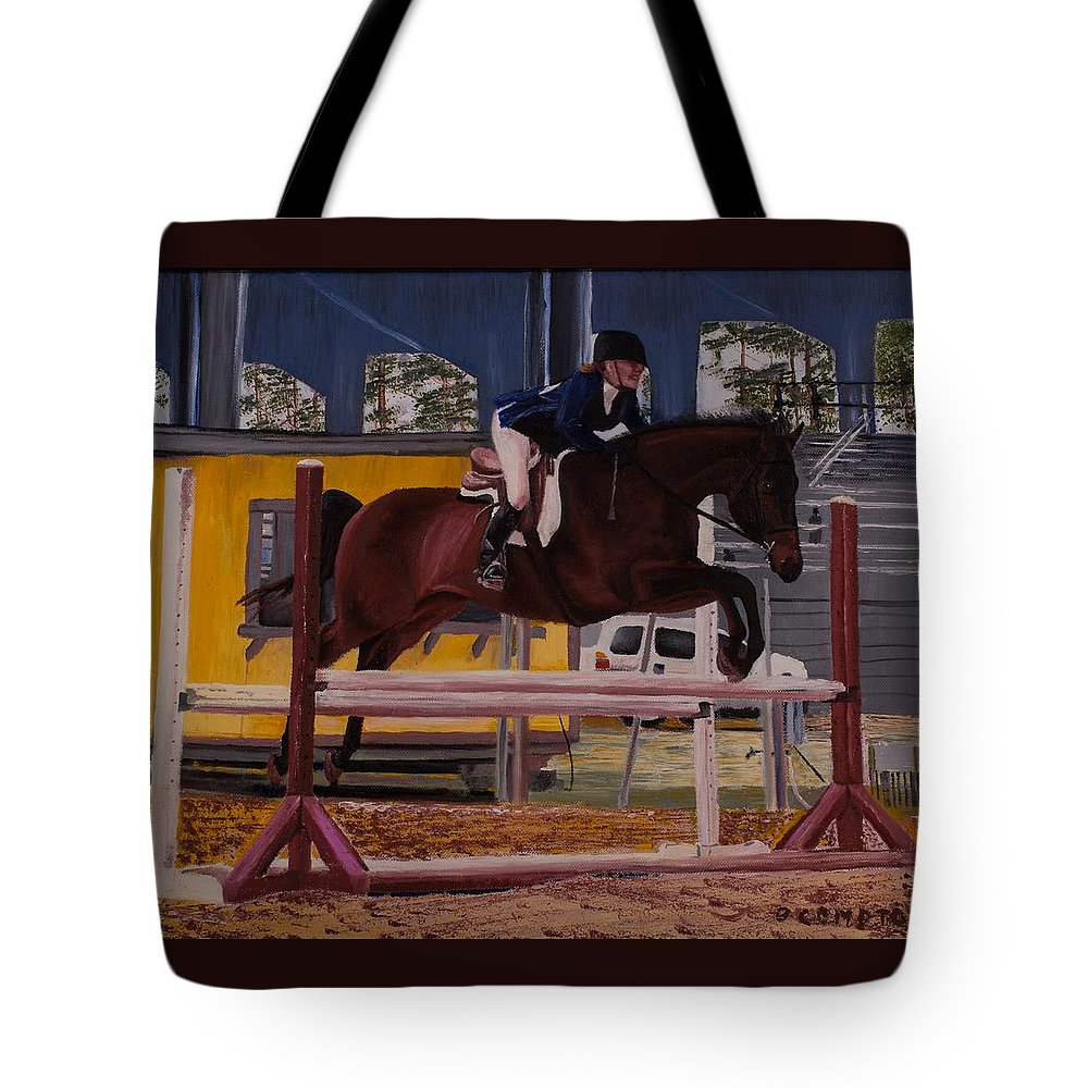Equestrian Tote Bag featuring the painting Bethany Cruisin' by Betty Compton