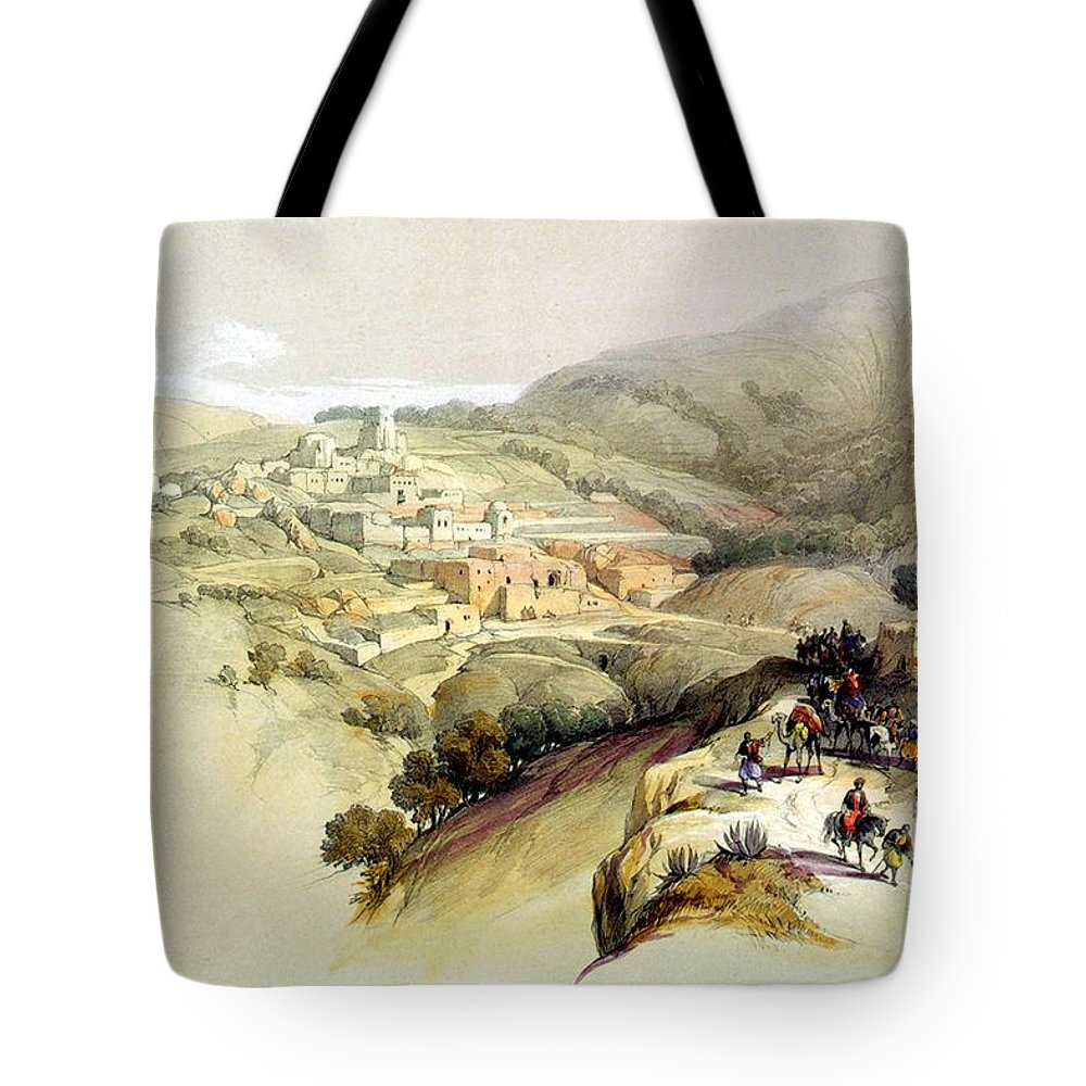 Bethany Tote Bag featuring the photograph Bethany by Munir Alawi