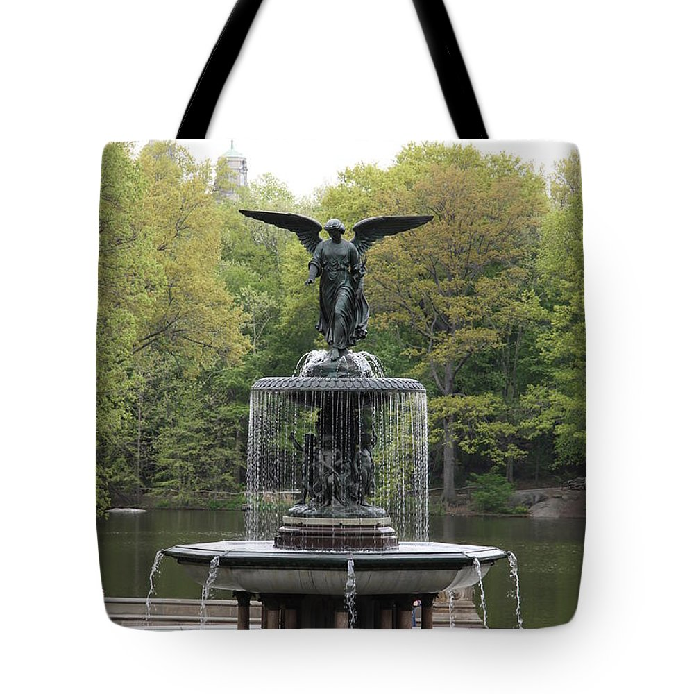 Bethesda Fountain Tote Bag featuring the photograph Bethesda Fountain Central Park Nyc by Christiane Schulze Art And Photography