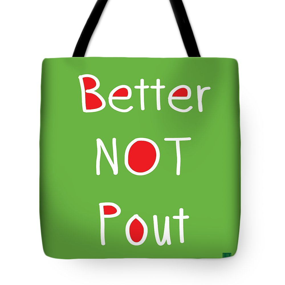 Better Not Pout Tote Bag featuring the digital art Better Not Pout - Square by Linda Woods