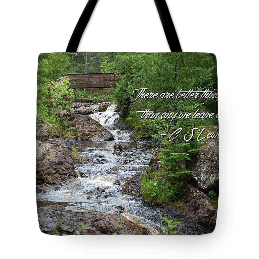 C.s. Lewis Tote Bag featuring the photograph Better Things Ahead by Kim Blaylock
