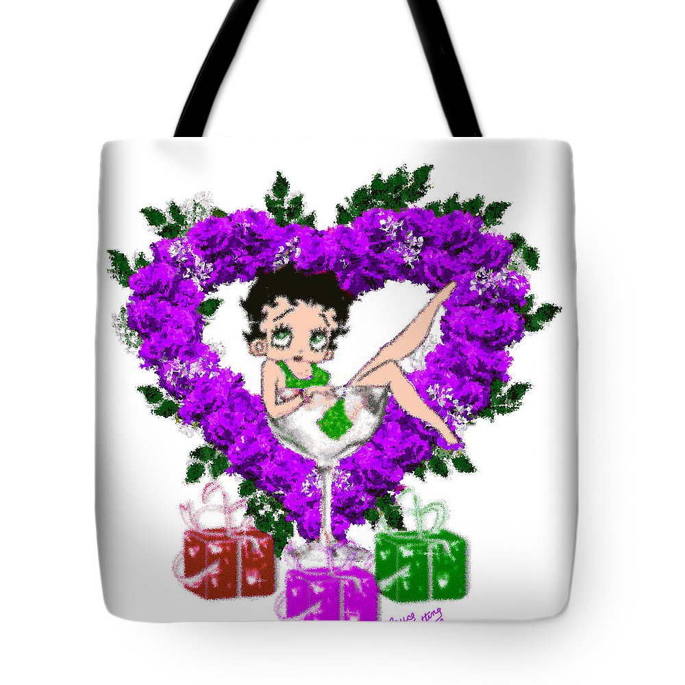 Betty Tote Bag featuring the painting Betty Boop 1 by Bruce Nutting