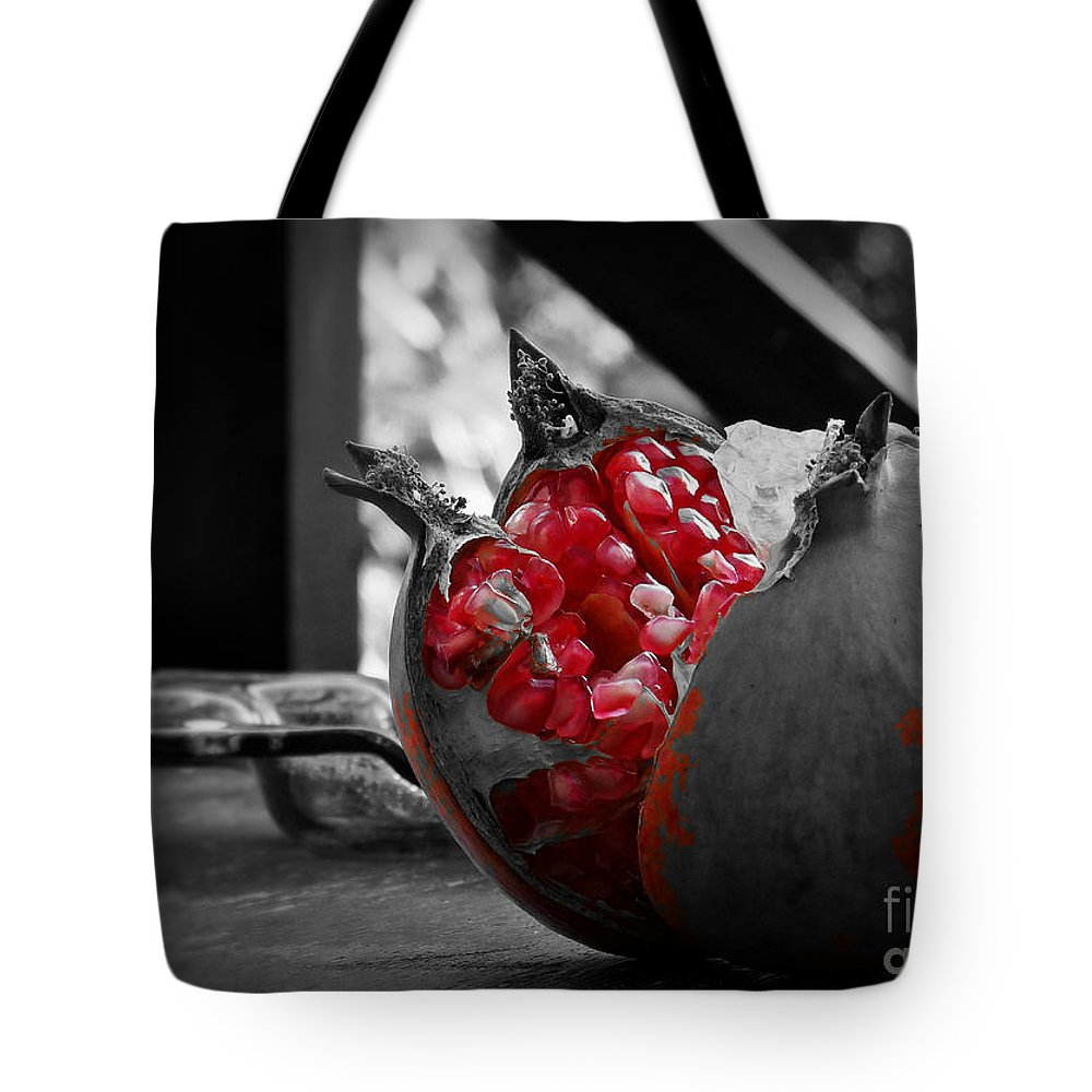 Pomegranate Tote Bag featuring the photograph Between Dream And Reality by Binka Kirova