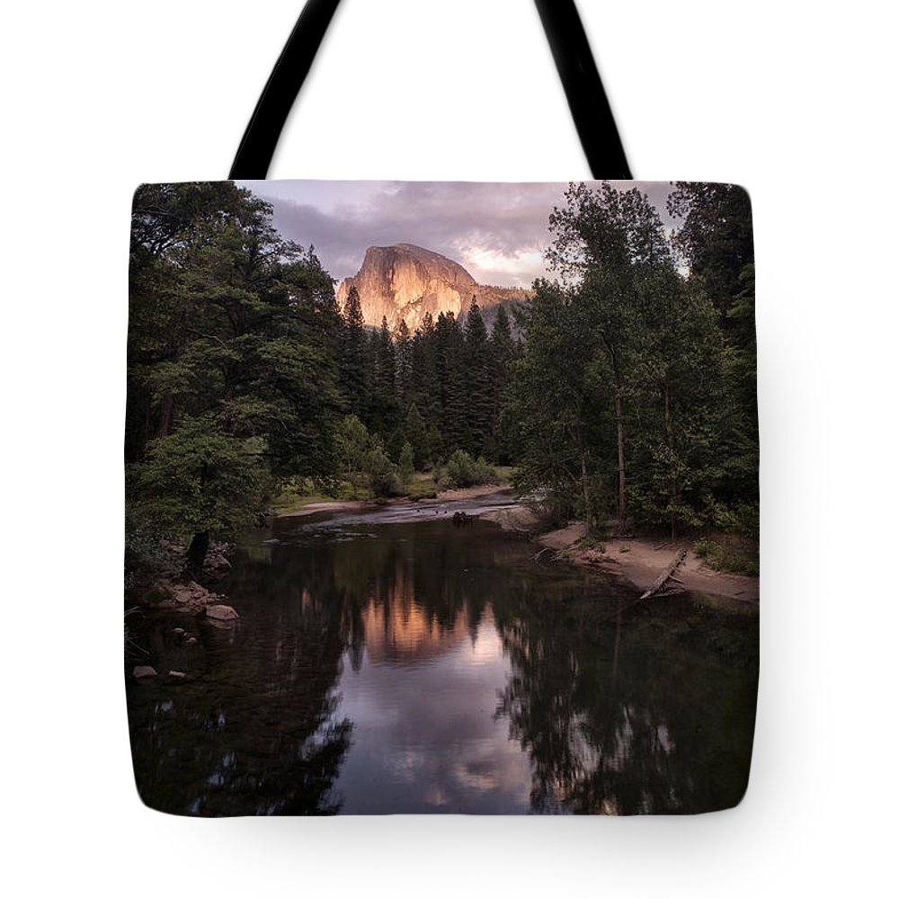 Ansel Adams Tote Bag featuring the photograph Between Every Two Pines Is A Doorway To A New World by Melany Sarafis