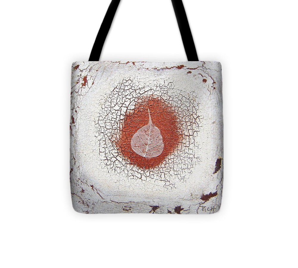 Bronze Tote Bag featuring the painting Between Seasons by Holly Picano