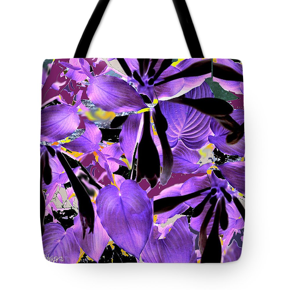 Beware The Midnight Garden Tote Bag featuring the digital art Beware The Midnight Garden by Seth Weaver