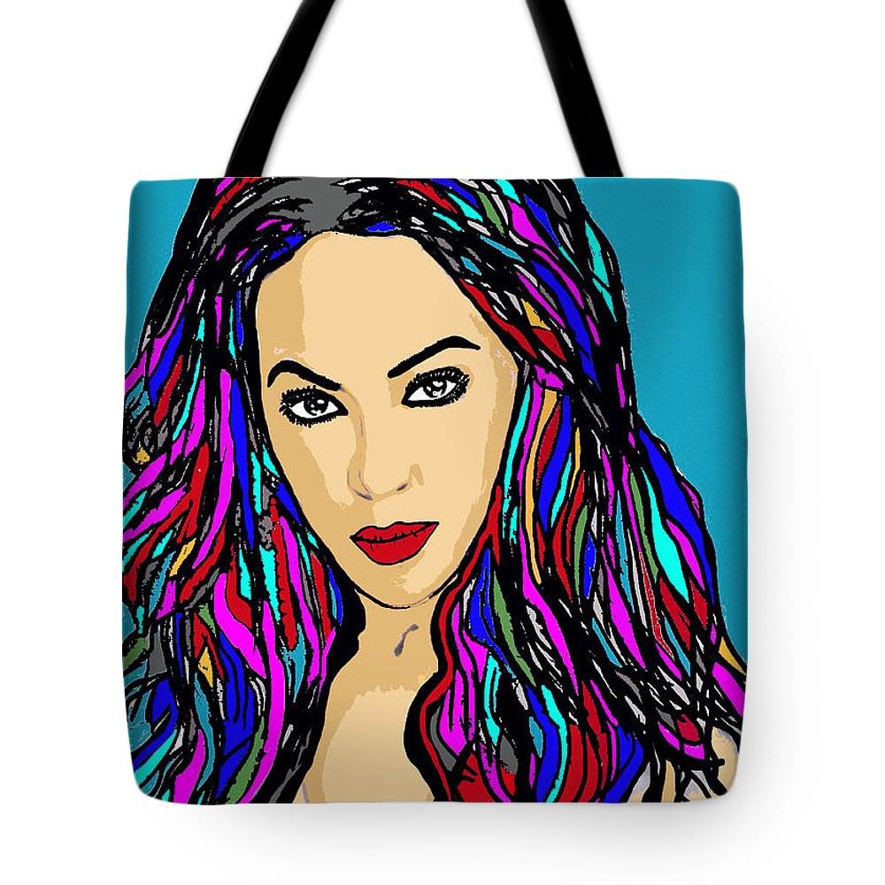 Beyonce Tote Bag featuring the painting Beyonce Crazy In Love by Saundra Myles