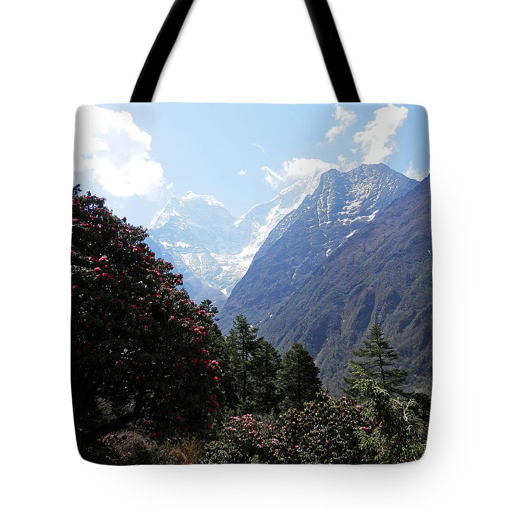 Rhododendrons Tote Bag featuring the photograph Beyond The Rhododendrons 1 by Pema Hou