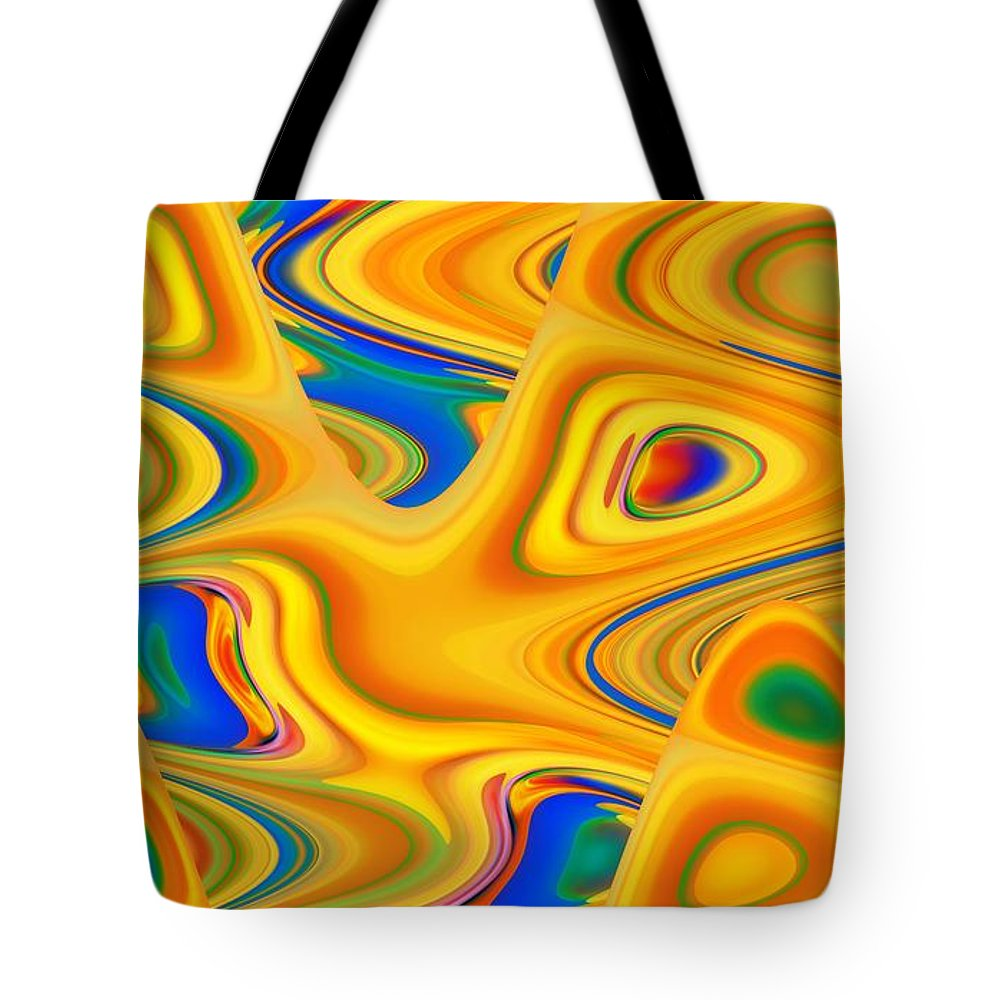 Abstract Tote Bag featuring the digital art Bibliophobia by John Holfinger