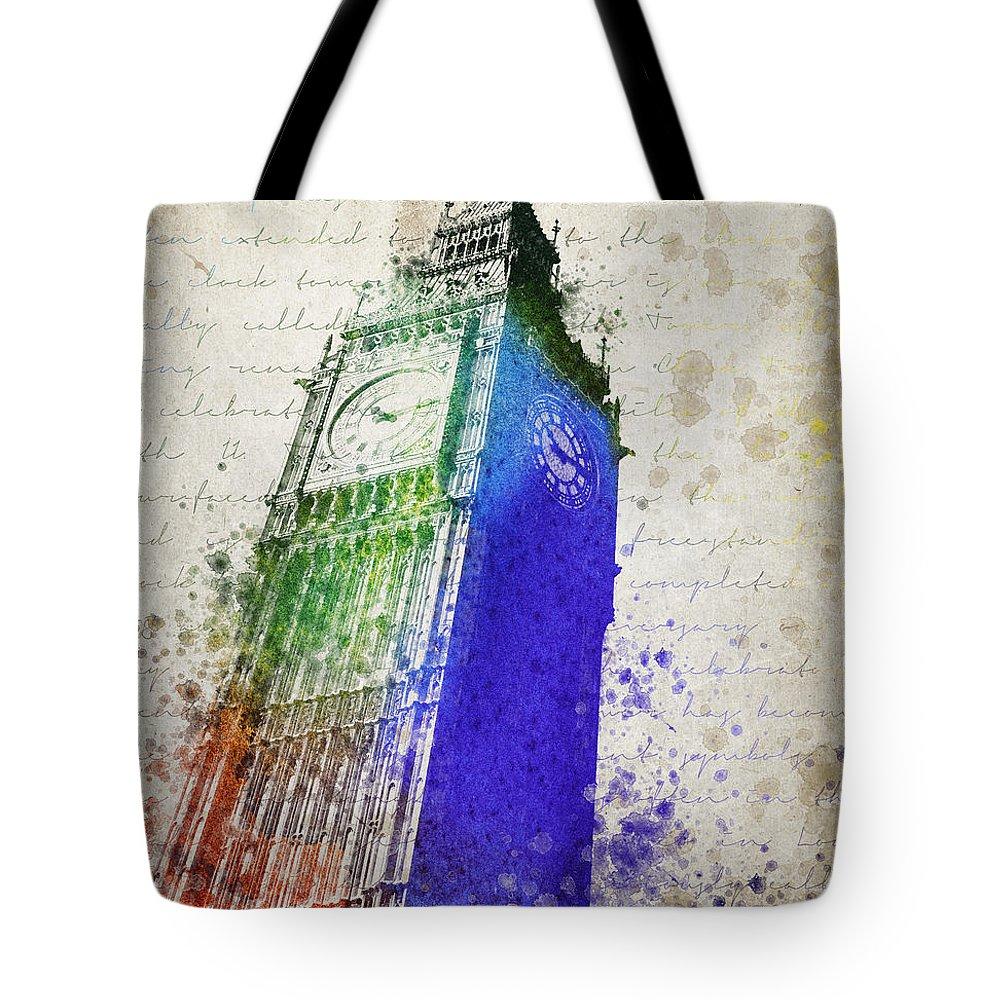 Big Ben Tote Bag featuring the digital art Big Ben by Aged Pixel