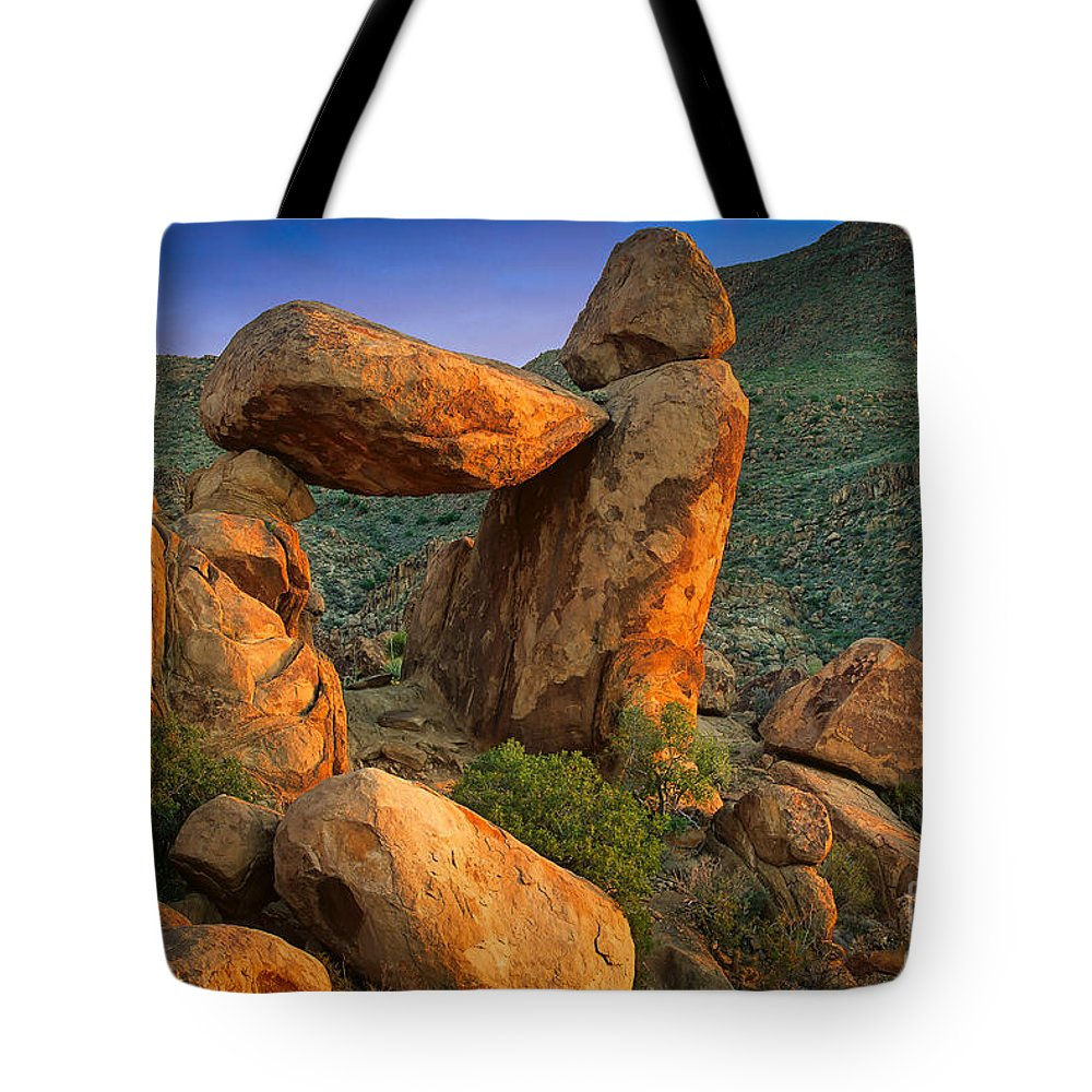America Tote Bag featuring the photograph Big Bend Window Rock by Inge Johnsson