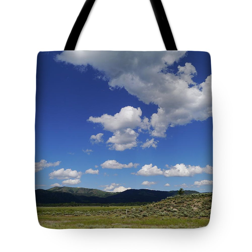 Idaho Tote Bag featuring the photograph Big Blue Sky by Christiane Schulze Art And Photography