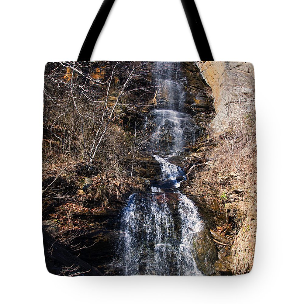 Waterfall Tote Bag featuring the photograph Big Bradley Falls 2 by Chris Flees