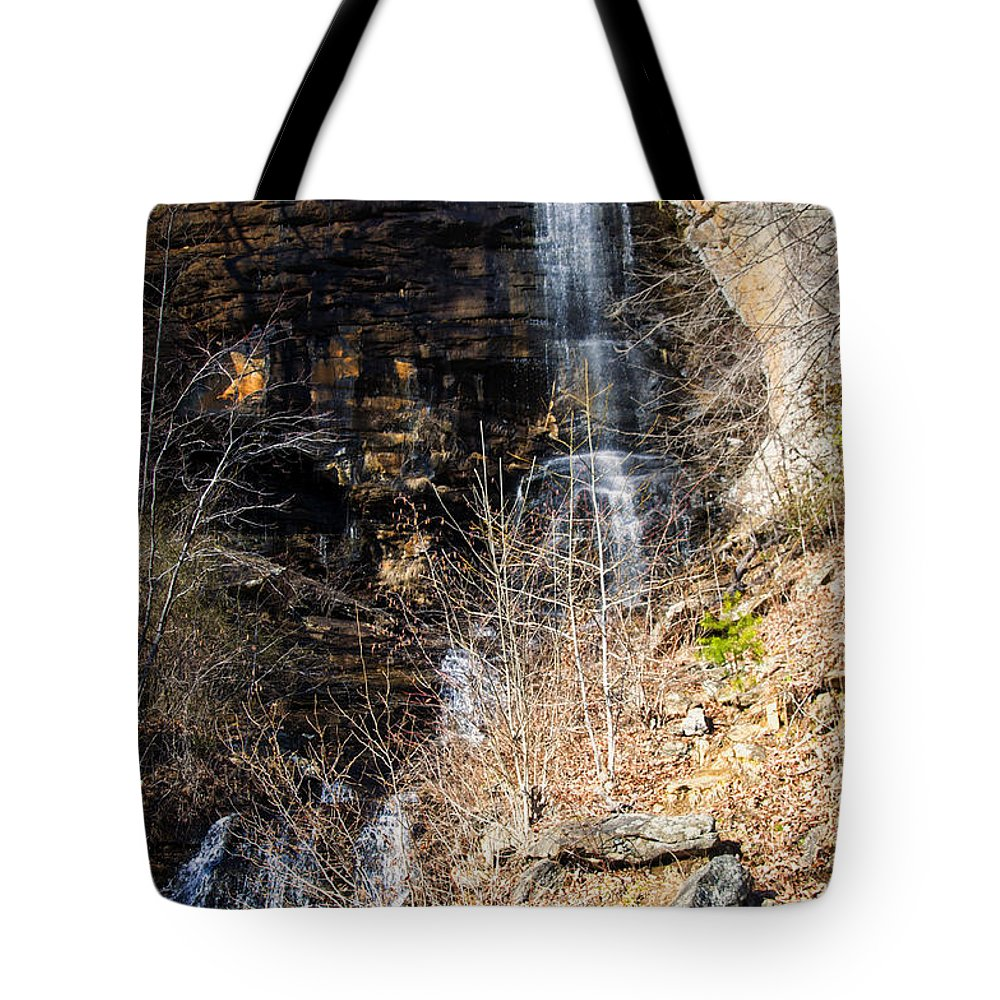 Waterfall Tote Bag featuring the photograph Big Bradley Falls 6 by Chris Flees