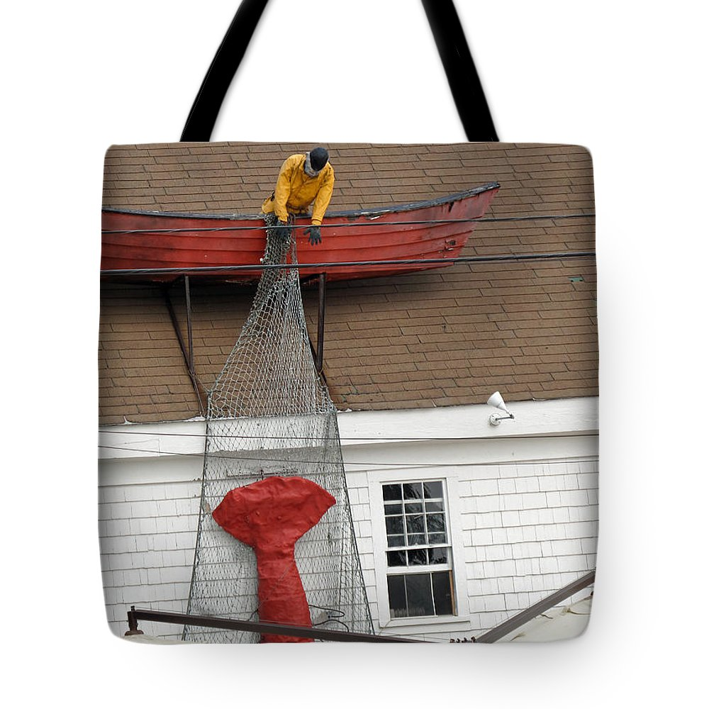 Lobster Tote Bag featuring the photograph Big Catch by Barbara McDevitt