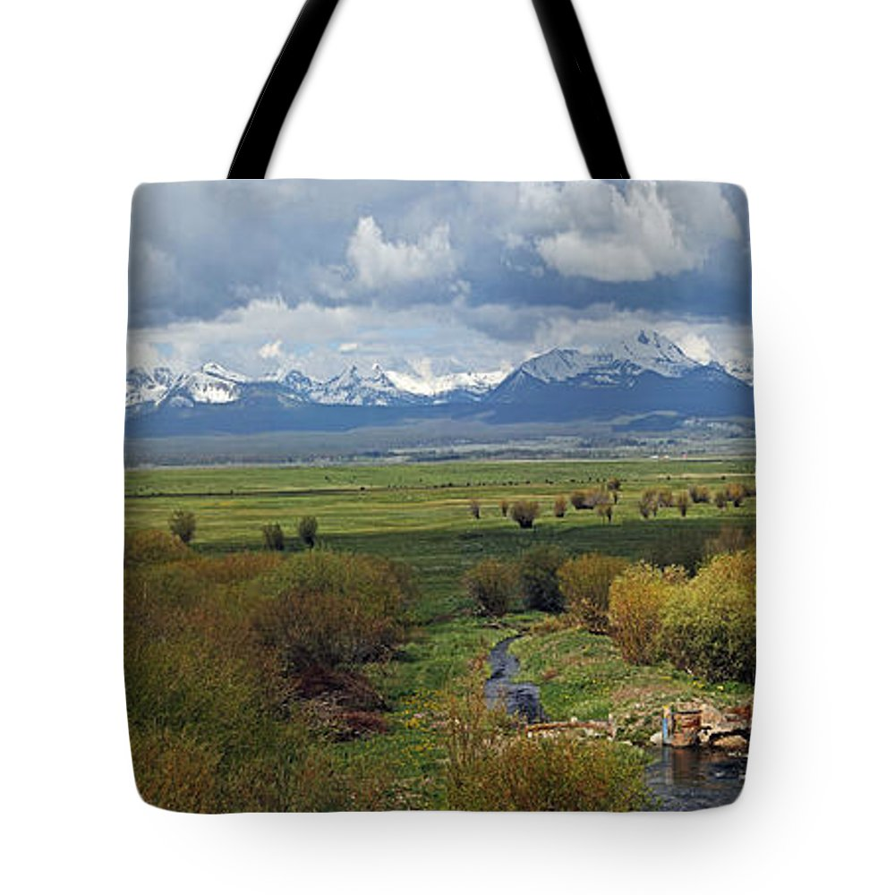 Landscape Tote Bag featuring the photograph Big Hole Valley by David Salter