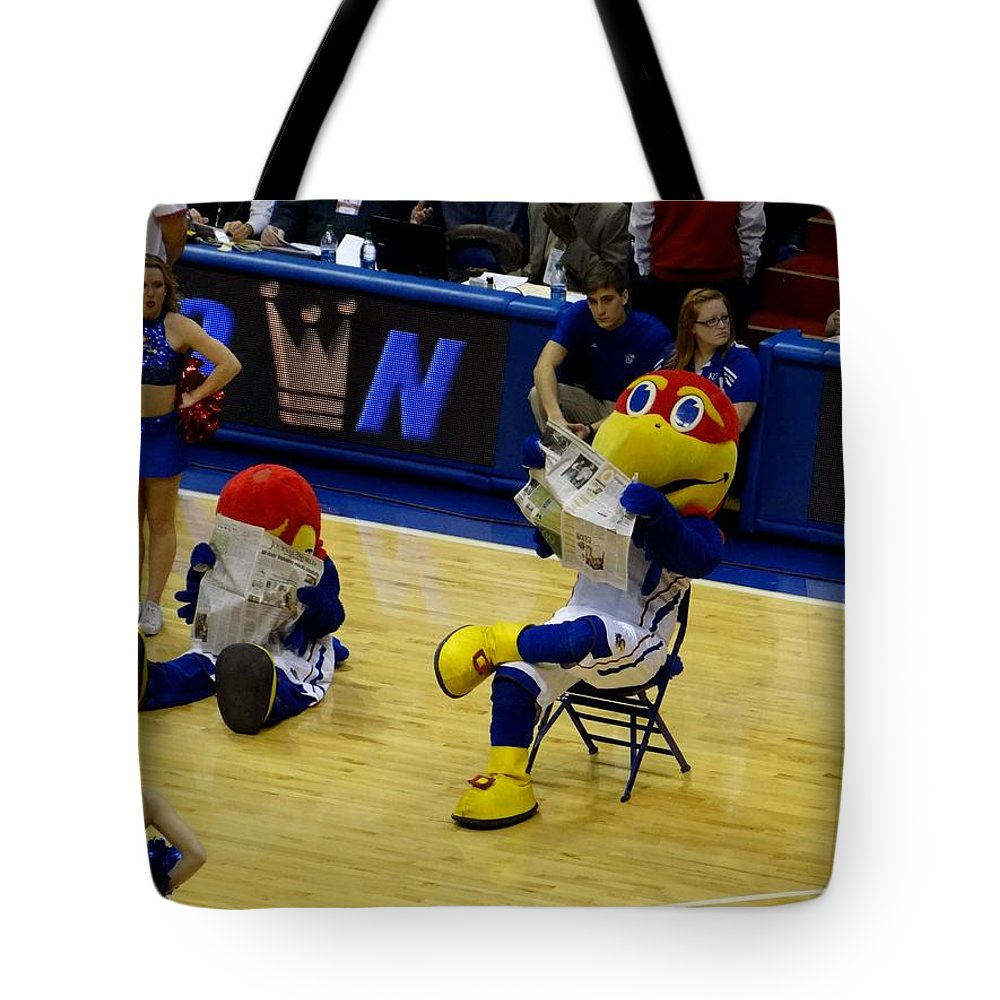 Big Jay Tote Bag featuring the photograph Big Jay And Baby Jay by Keith Stokes