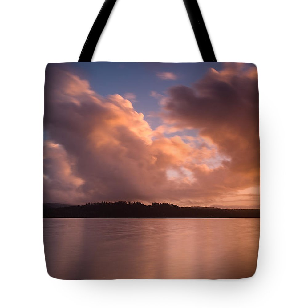 Big Lagoon Tote Bag featuring the photograph Big Lagoon Sunset Colors by Greg Nyquist