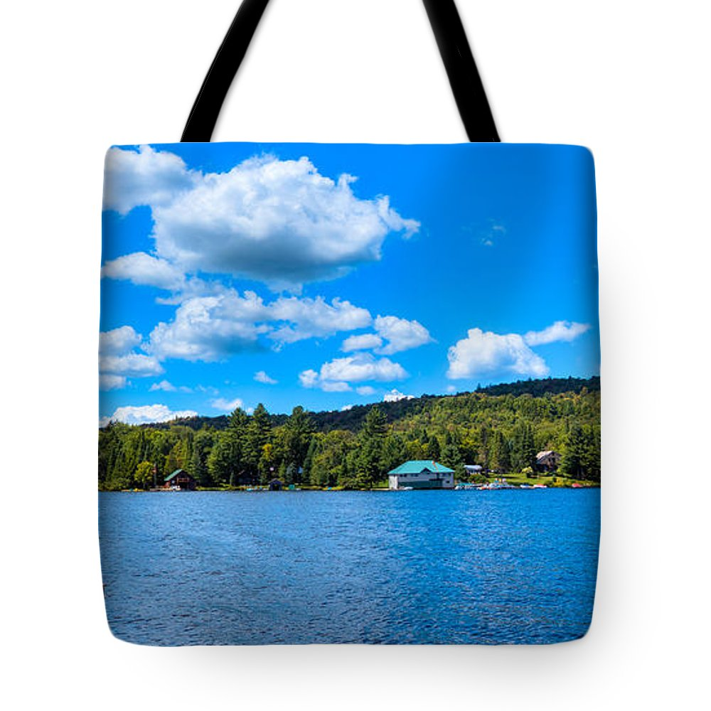 Big Moose Lake Tote Bag featuring the photograph Big Moose Lake In The Adirondacks by David Patterson