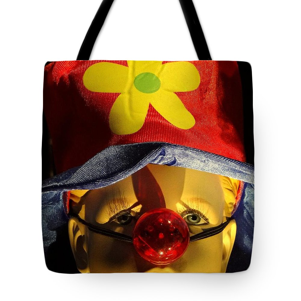 Mannequin Tote Bag featuring the photograph Big Nosed Boy by Ed Weidman