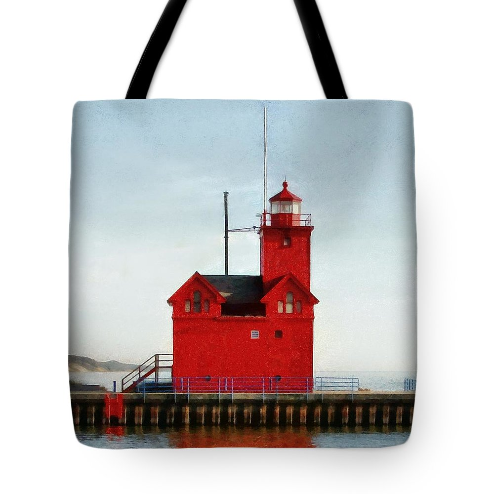 Windows Tote Bag featuring the photograph Big Red by Michelle Calkins