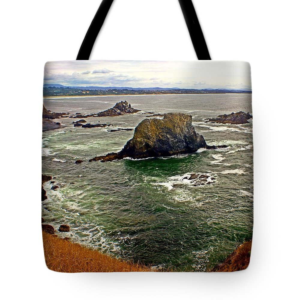 Beach Tote Bag featuring the photograph Big Rock Beach by Marty Koch