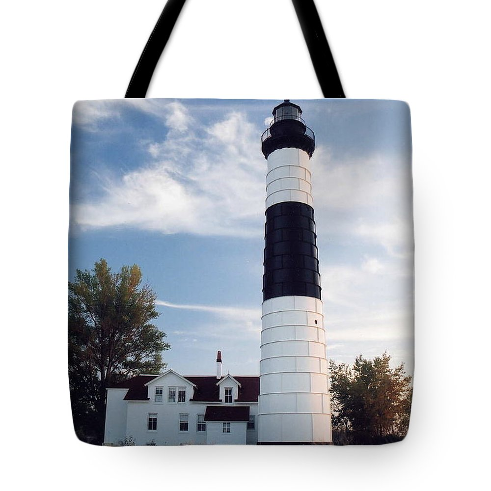 Lighthouse Tote Bag featuring the photograph Big Sable Lighthouse by Crystal Nederman