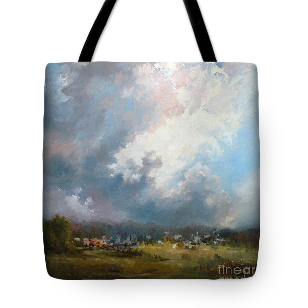 Best Selling Art Prints Tote Bag featuring the painting Big Sky by Patti Trostle