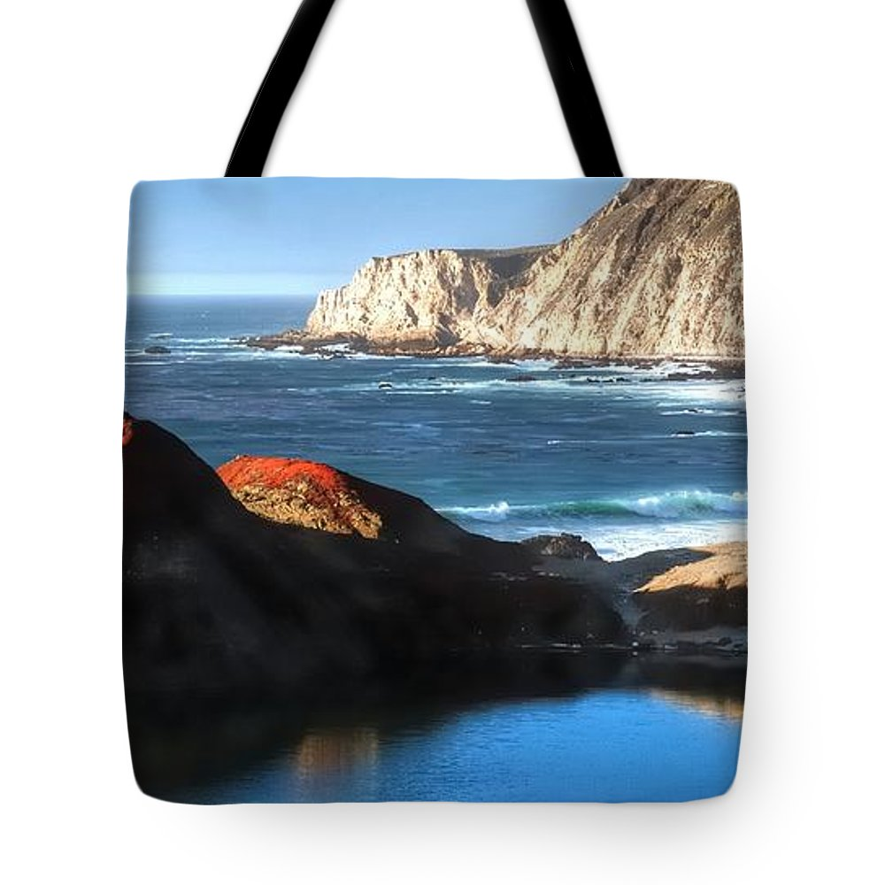 Reflect Tote Bag featuring the photograph Big Sur Coastline 20103 by Jerry Sodorff