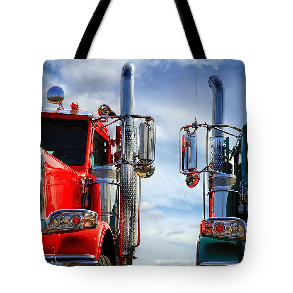 Transportation Tote Bag featuring the photograph Big Trucks by Bob Orsillo